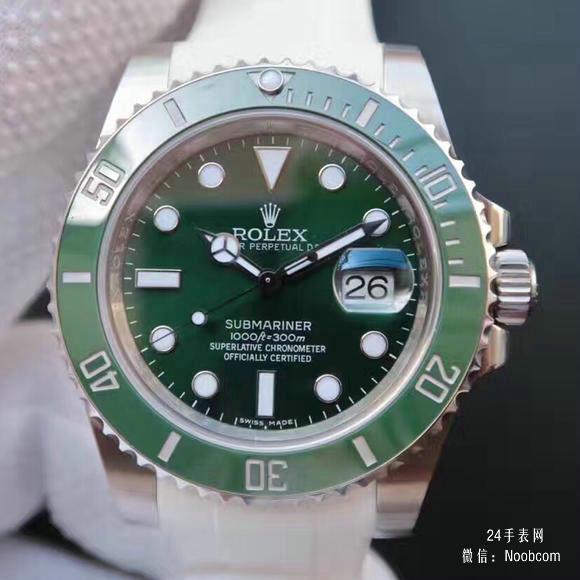 顶级复刻劳力士绿水鬼116610LV n厂v7版复刻绿鬼胶带绿水鬼手表