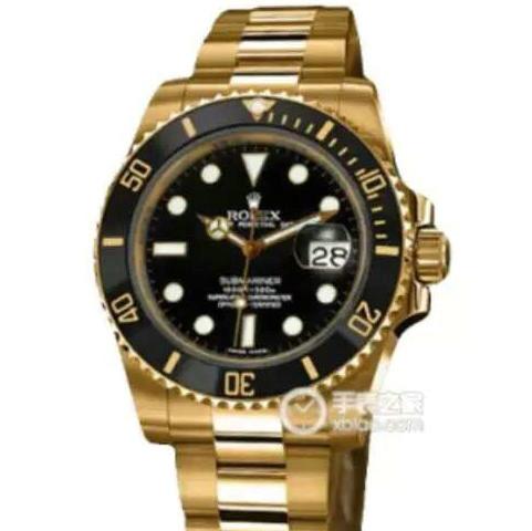 复刻一比一劳力士全金水鬼v7版116618LN-97208男士机械手表黑盘