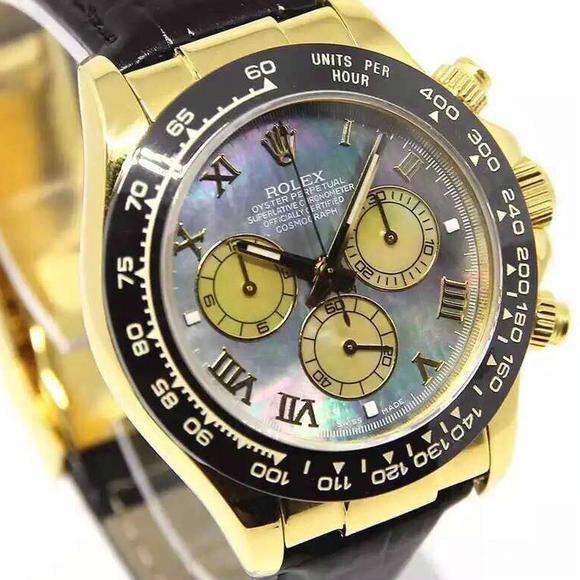 BP复刻劳力士迪通拿24K包金外壳V5版男士手表