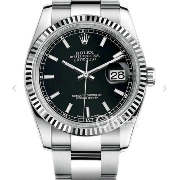 一比一精仿劳力士日志型系列116334黑面机械手表