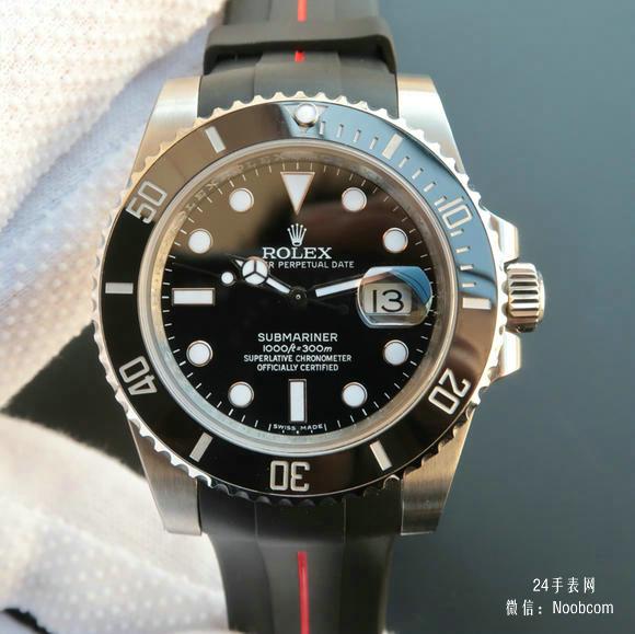 顶级复刻v7劳力士黑水鬼116610LN黑鬼v7版SUB潜航者系列胶带款