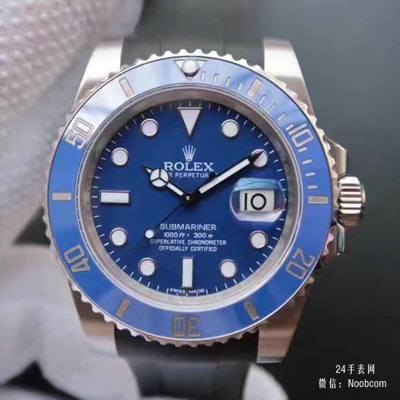 复刻劳力士v7蓝水鬼116619LB胶带款手表 n厂