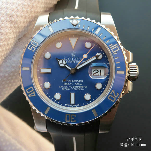 复刻劳力士SUB潜航者系列116619LB蓝水鬼蓝鬼v7版胶带款