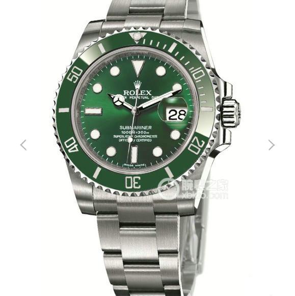N劳力士SUB潜航者系列116610LV绿水鬼绿鬼v7版自动机械机芯男士手表