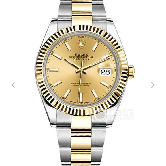 一比一高仿劳力士日志型II系列126333包金版 纯18k包金男士经典手表