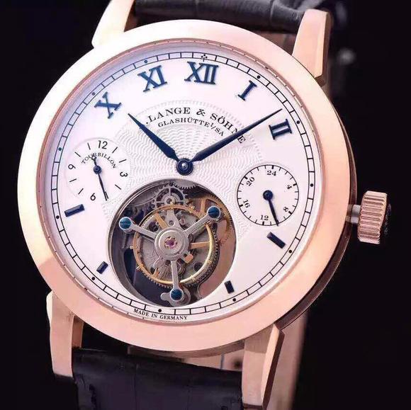 BM厂复刻朗格手动上链顶级真飞轮机芯手表