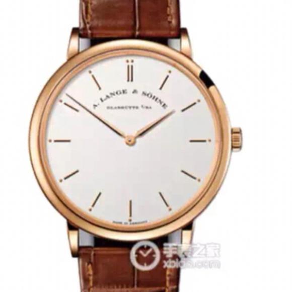 MK厂朗格萨克森超薄系列玫瑰金两针简单大方手表