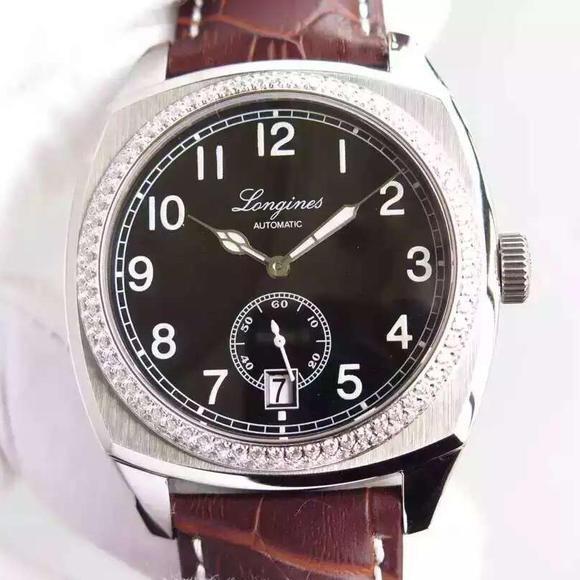 精仿浪琴L2.794.4.53.0复古传统系列镶钻手表