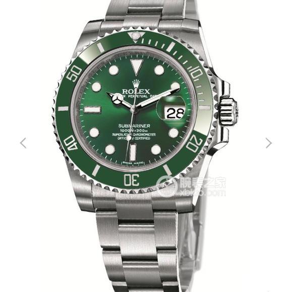 N劳力士SUB潜航者系列116610LV翠绿版绿水鬼绿鬼v7版顶级复刻手表
