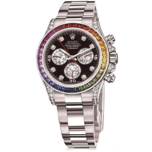 N劳力士迪通拿116599RBOW彩虹深海珍珠贝母字面中性手表
