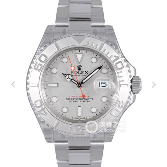 JF劳力士超级游艇名士116622男士腕表,原装开模表壳,电镀白金,无噪声 上链手感同正品 日历瞬跳