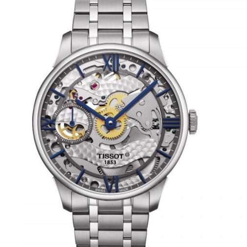 天梭杜鲁尔系列T099.405.11.418.00男士全缕空手动机械腕表,一比一复刻,316L 瑞士进口6497-1机芯