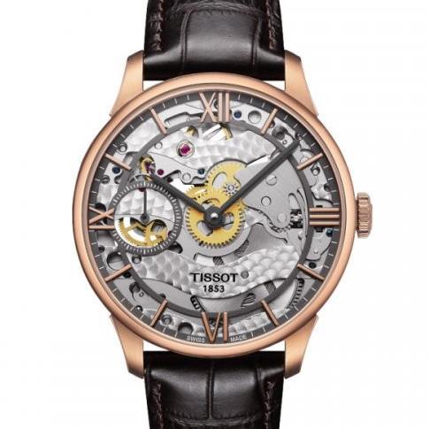 天梭杜鲁尔系列T099.405.36.418.00男士全缕空手动机械腕表,一比一复刻,316L 瑞士进口6497-1机芯