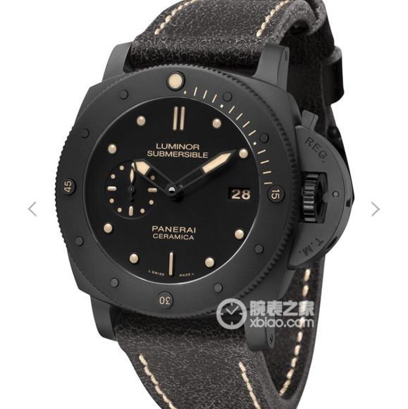 VS沛纳海508,V2升级版!同步正品机芯功能 陶瓷表 耐磨不怕刮花,皮表带  男士腕表