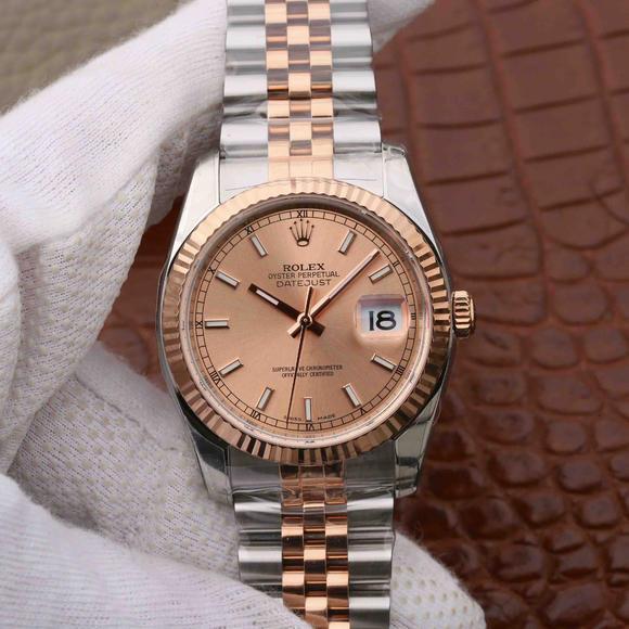 AR劳力士DATEJUST日志型116234腕表副本, 自动机芯 精钢表带,男士腕表