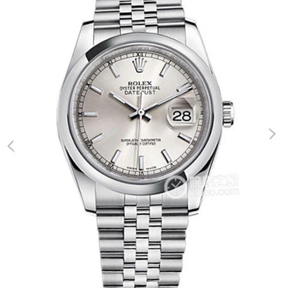 N劳力士日志型系列116200男士腕表。原装开模2836瑞士机械机芯,镀18k金 一比一高端品质,316L