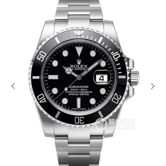 N厂v8劳力士潜航者系列黑水鬼男士机械手表 升级版v8s版904精钢