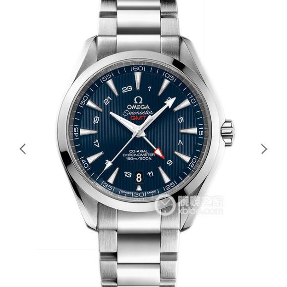 VS欧米茄海马150 米GMT 搭载VS全新1:1一体机芯,精钢表带,自动机械机芯 男士腕表