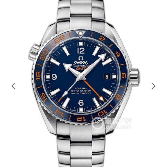 VS欧米茄海洋宇宙GMT 43.5mm 1:机芯升级1:1 8605 机芯。精钢表带 男士腕表