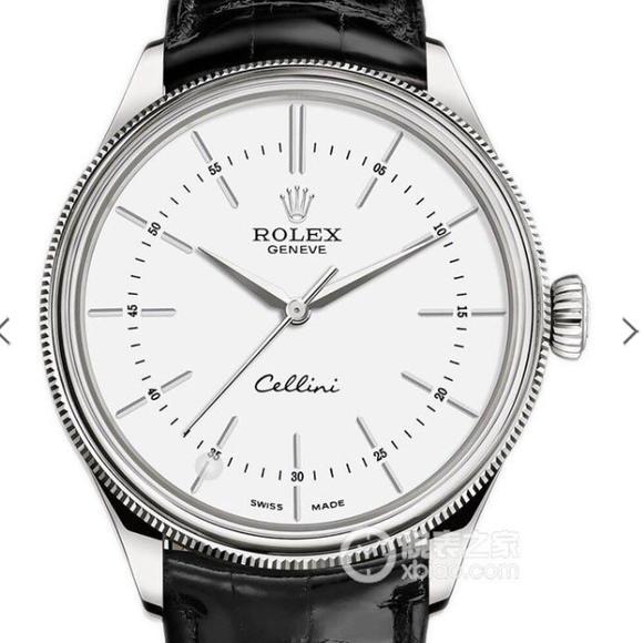 NB劳力士Rolex切利尼系列,复刻3132自动机械机芯,316精钢 牛皮表带 男士腕表