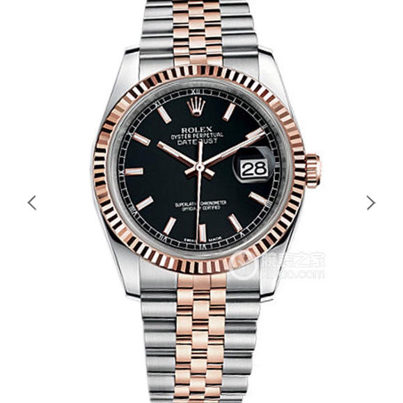 AR劳力士DJ间玫瑰金日志型腕表副本十年精华 并行代购版DATEJUST 精钢表带 男士腕表