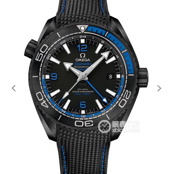 """VS欧米茄全黑陶瓷海洋宇宙600米 """"深海之黑""""橡胶表带,自动机械机芯,男士腕表"""