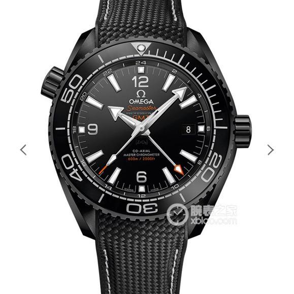 """VS欧米茄全黑陶瓷海洋宇宙600米 """"深海之黑"""" 男士机械手表"""