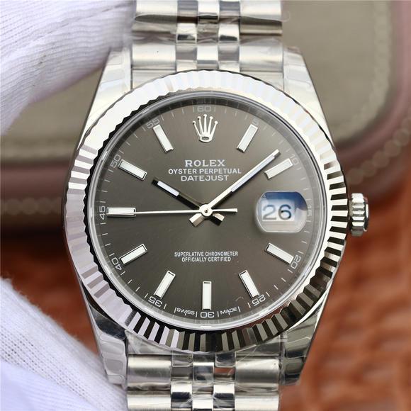 DJ劳力士日志型36纪念花纹面款 精钢表带 复刻3135自动机械机芯 男士腕表