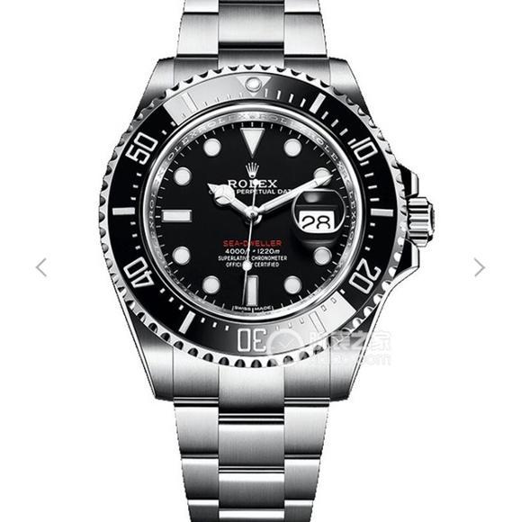 N劳力士v9版海使型126600(单红新小鬼王)钢精表带 原版3235机械自动机芯 男士腕表