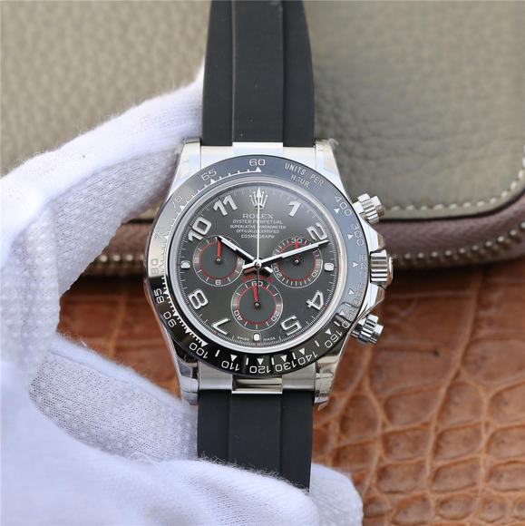 JH劳力士迪通拿全新升级版本 橡胶表带 自动机械机芯 男士腕表