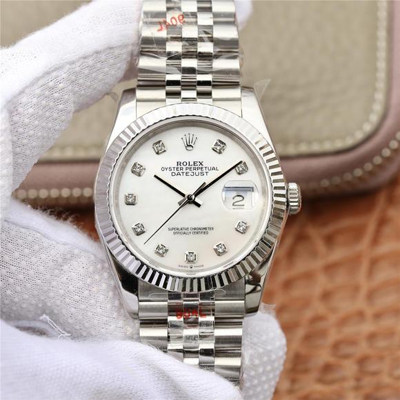 GM劳力士新款日志36mmROLEX DATEJUST超级904L最强升级版日志型系列腕表 精钢表带 自动机械机芯 男士腕表