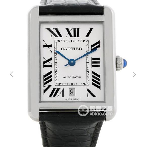 卡地亚坦克系列W5200027腕表 腕表尺寸31x41mm 男士皮带机械手表