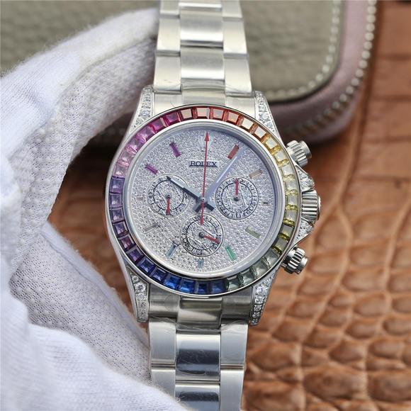OW劳力士宇宙计型彩虹迪通拿腕表 原版复刻 男士腕表 精钢表带 自动机械机芯