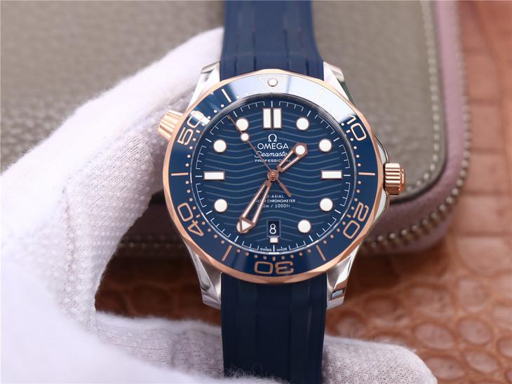 VS厂欧米茄海马300间玫瑰金复刻手表 用后体验感