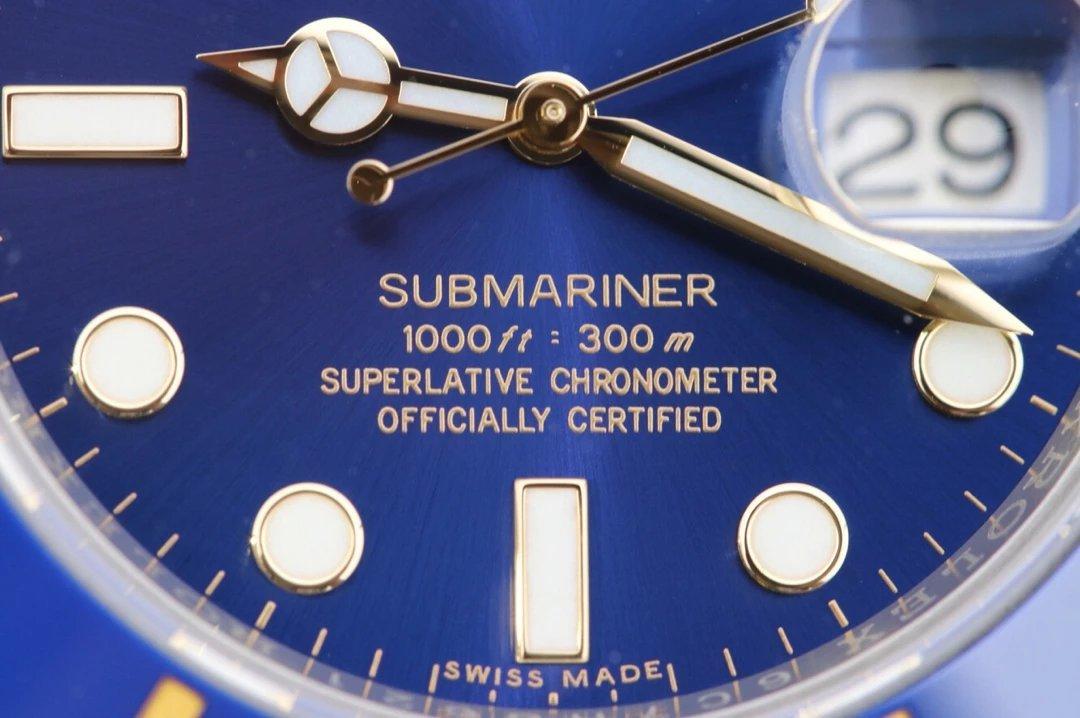 Jf厂劳力士18K间金蓝水鬼v10终极版,潜航者SUB型116613-LB-97203蓝盘,3135自动机械机芯,40毫
