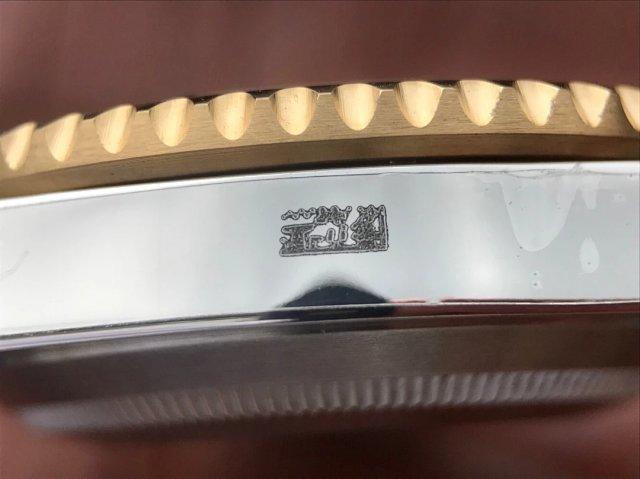 Jf厂劳力士间金蓝水鬼v10终极版,潜航者SUB型116613-LB-97203蓝盘,3135自动机械机芯,40毫直径,
