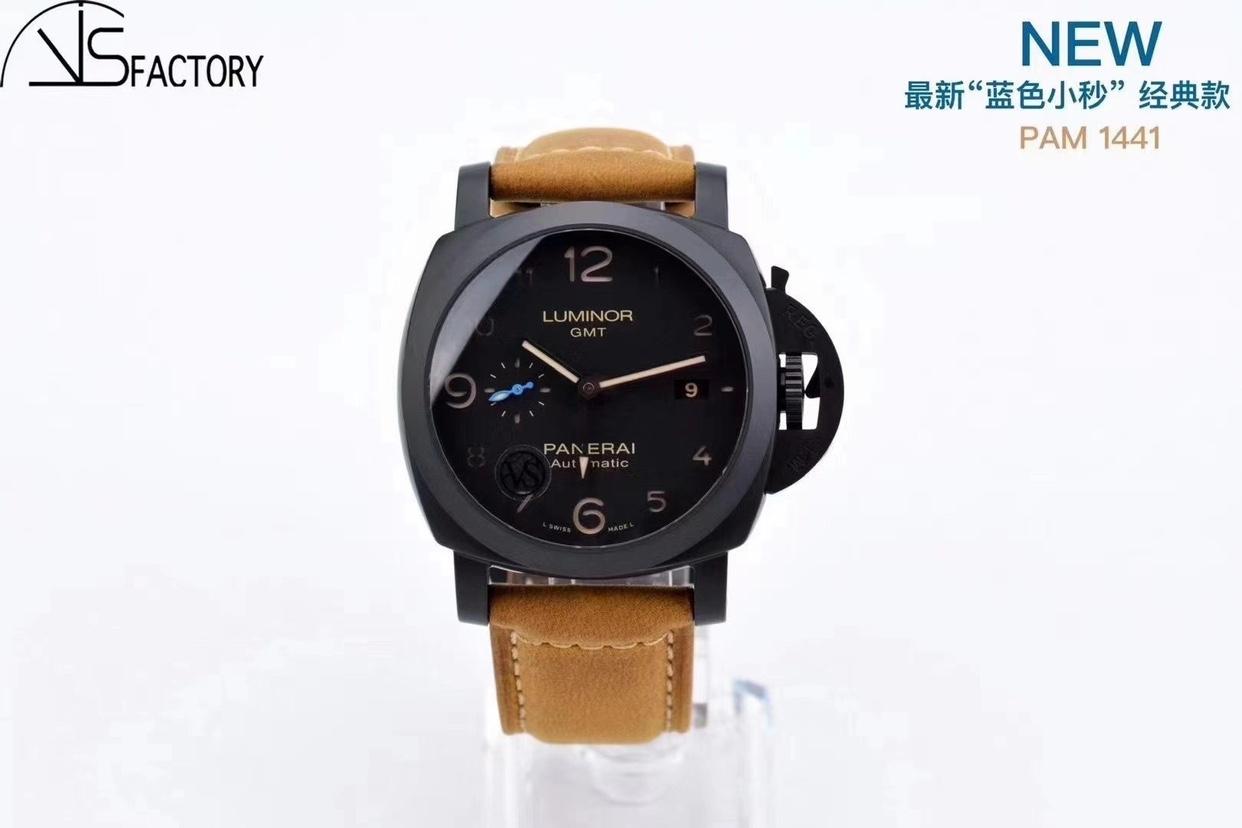 "VS厂沛纳海1441""蓝色小秒""经典PAM1441陶瓷手表 44MM"