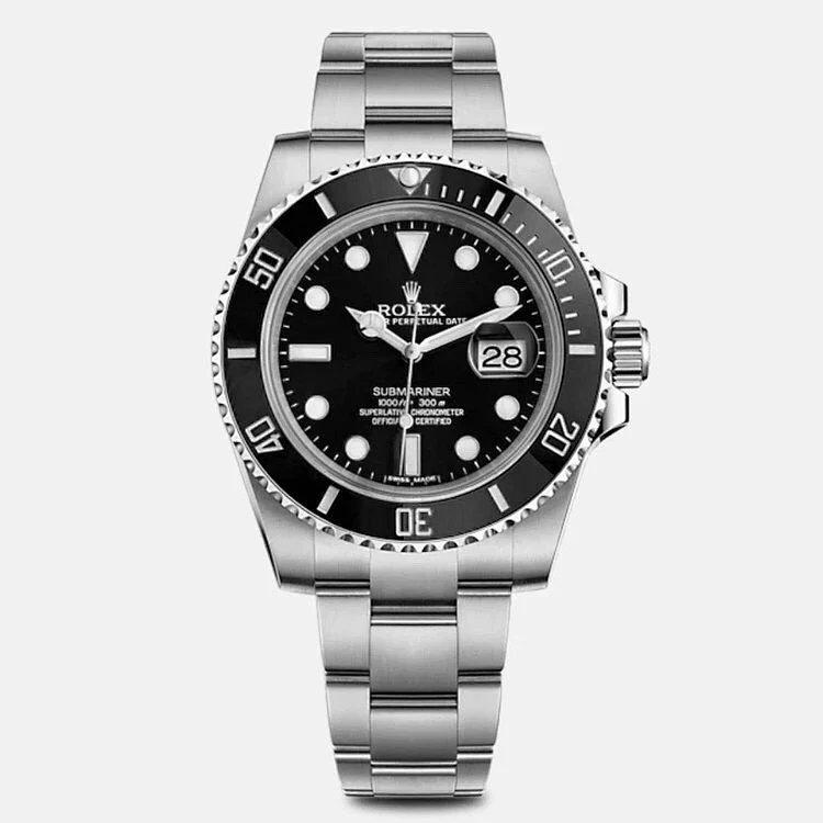 VS厂顶级劳力士全新3135版本黑水鬼钢带男士机械手表
