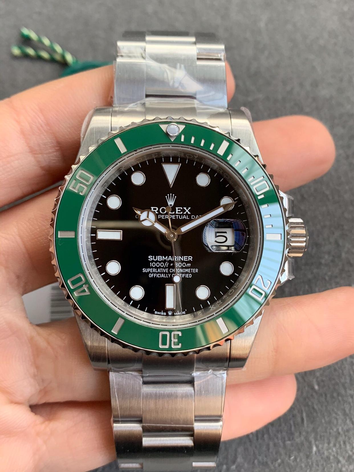 VS厂劳力士绿水鬼41mm钢带男士机械手表3235机芯一比一复刻