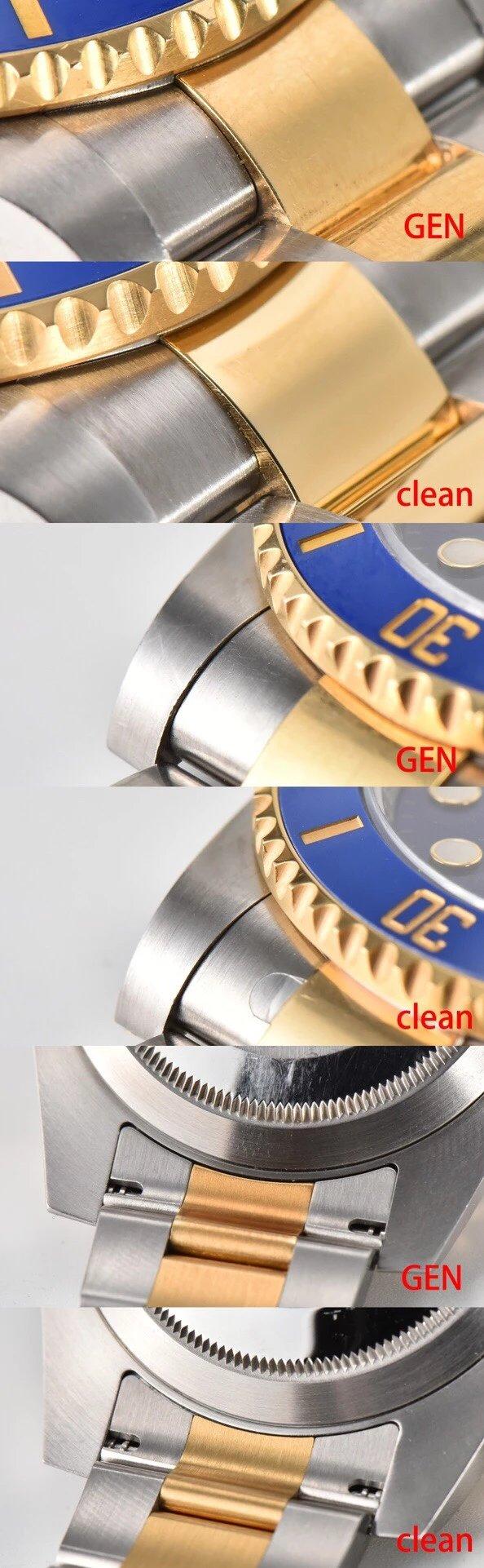 C厂116613间金黑水鬼CLEAN厂真正的cleanv4最新版本绿色圈口,秒杀原有的v3版绿圈独家cleanv1版本蓝圈/同原装一致呈现蓝紫色手工打磨立体指针/不用再更换代用指针